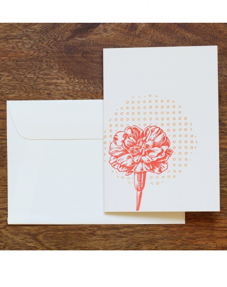 Flower Letterpress Card – red flower