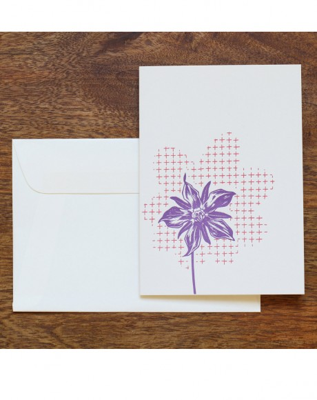 Flower Letterpress Card – lilac flower