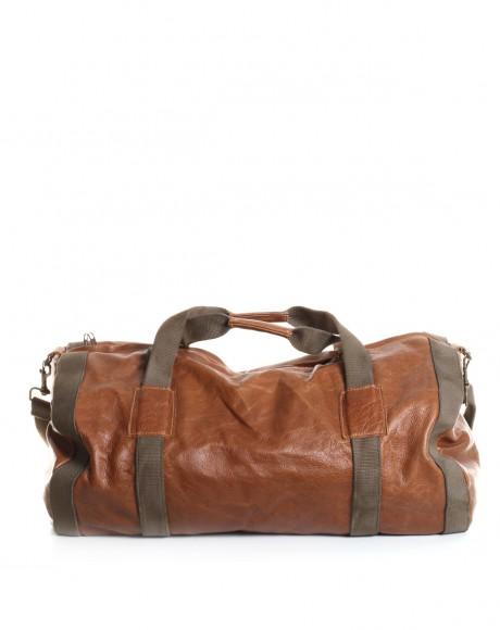 leather duffel bag by dark horse