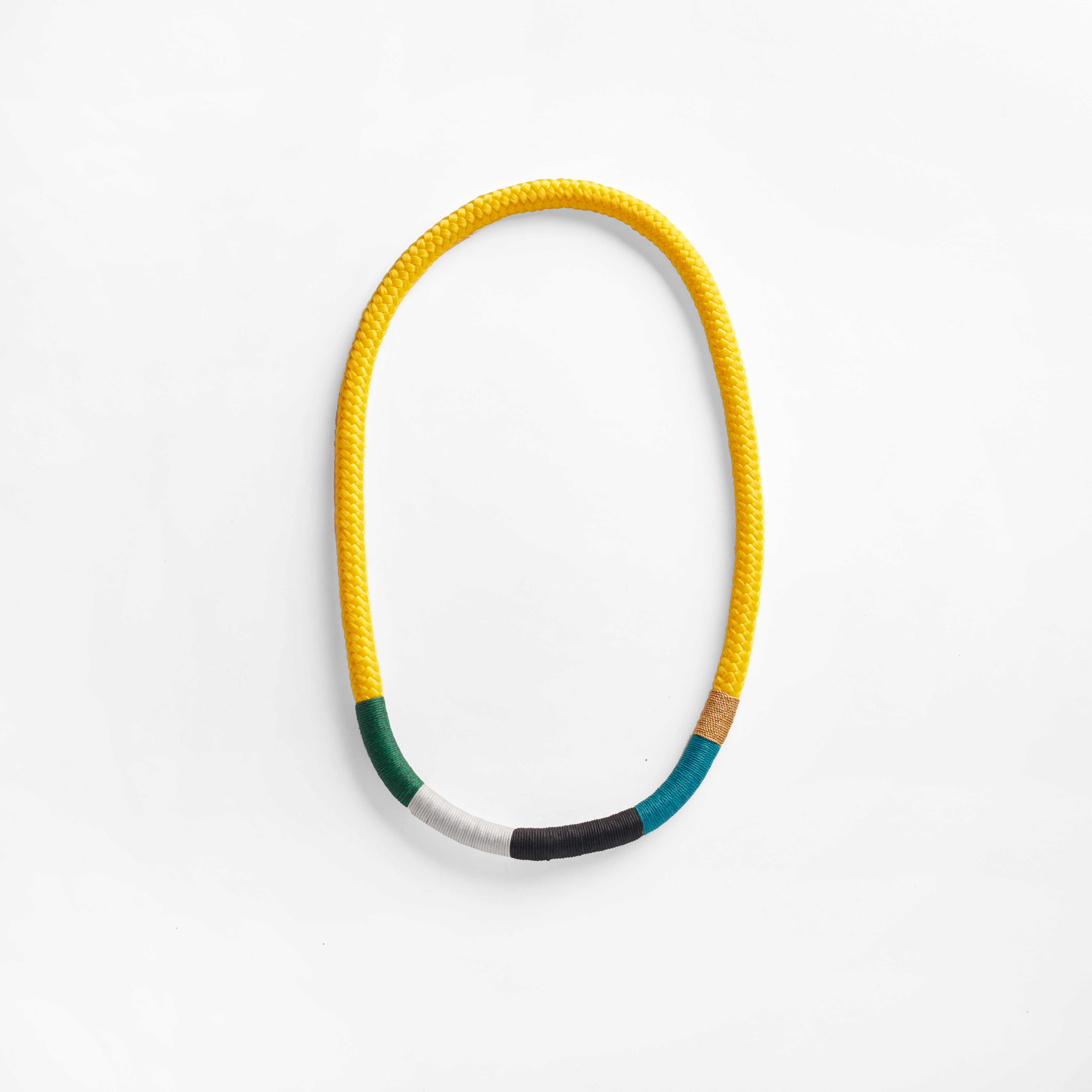 1 thin ndebele necklace yellow (PIC014-YW) HR