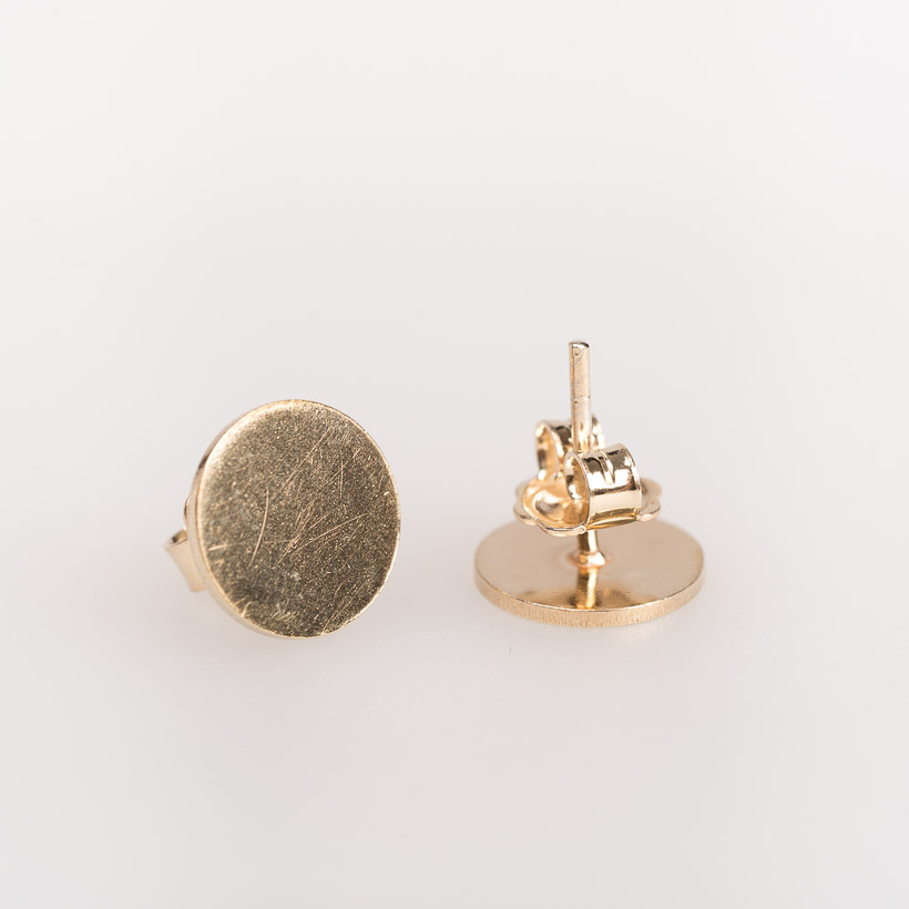 dubaruba_shop brass gilt round studs small earrings smith jewelry made in africa cape town handcrafted  south africa