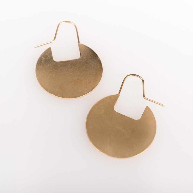 dubaruba_shop_brass disc earrings smith jewelry made in africa cape town handcrafted  south africa