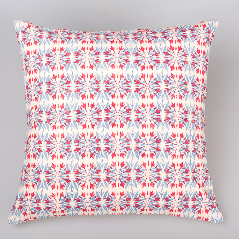 dubaruba_cushion cover sunflower blue and red-south africa-handcrafted-capetown-made in africa