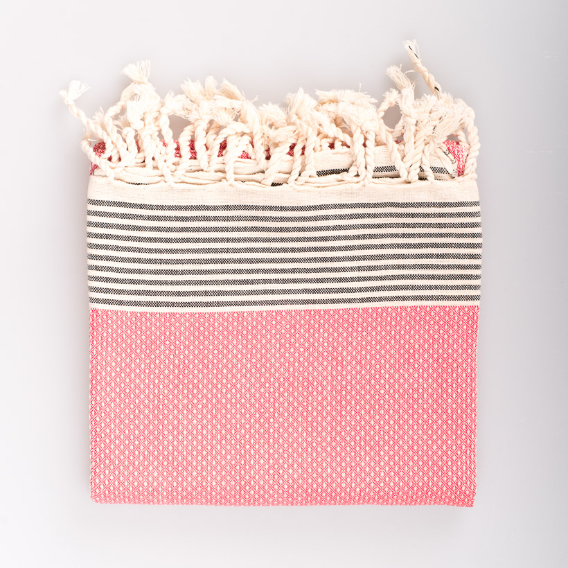 dubaruba_coral fouta made in Tunisia made in africa