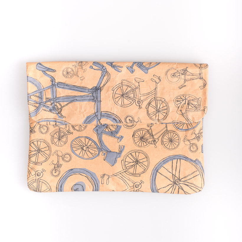 dubaruba_paper sleeve mini-the blue bicycle the wren design south africa cape town handcrafted made in africa