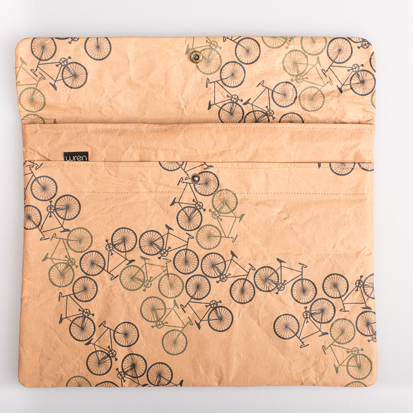 dubaruba_paper sleeve laptop sleeve- forest bikes the wren design south africa cape town handcrafted made in africa