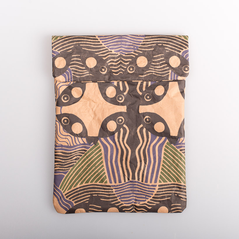 dubaruba_paper sleeve iPad tablet sleeve-african memories digital print the wren design south africa cape town handcrafted made in africa